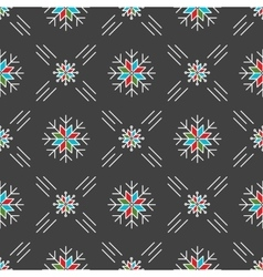 Christmas seamless pattern snowflakes gray vector
