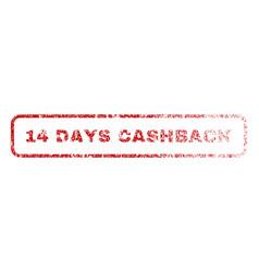 14 days cashback rubber stamp vector