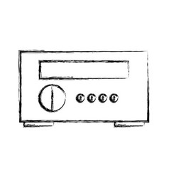 stereo home appliance icon vector image