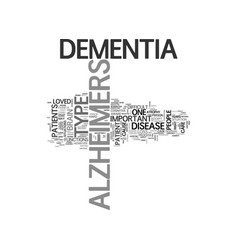 Alzheimers cure text word cloud concept vector