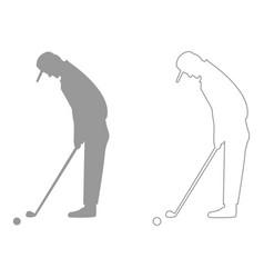 golfer set icon vector image
