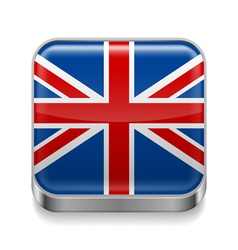 Metal icon of united kingdom vector