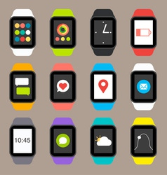 Smart watch icons vector