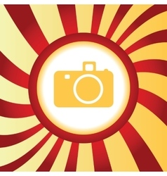 Camera abstract icon vector
