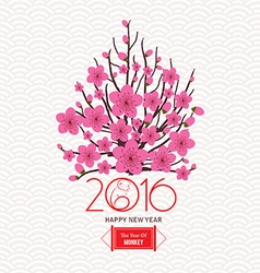 Chinese lunar new year with japanese plum blossom vector