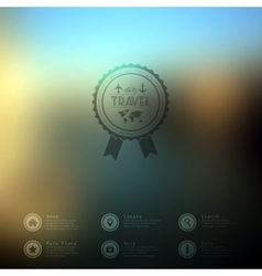 Web and mobile interface template travel vector