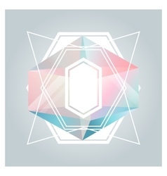 Abstract background with geometric crystals vector