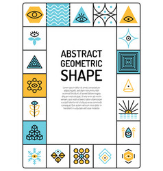 Abstract geometric card vector
