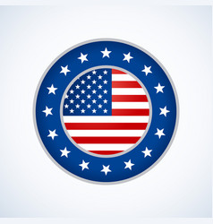 american flag badge design vector image vector image