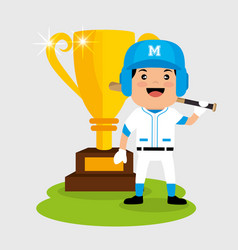 Baseball player sport icon vector