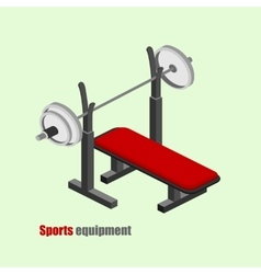 Bench press isometric vector image