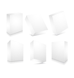 blank 3d boxes set vector image