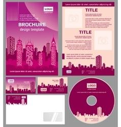 Business brochure architecture design vector image