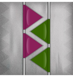 business triangles purple green vector image