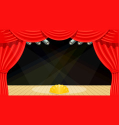 Cartoon theater theater curtain beams of vector