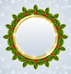 Christmas plaque vector image vector image