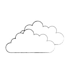 Cloud sky isolated icon vector