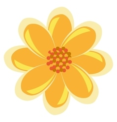 colorful yellow and red flower graphic vector image