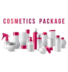 cosmetics packages border vector image