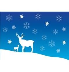 Deer snow vector