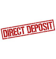 Direct deposit stamp vector