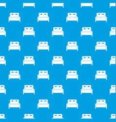 Double bed pattern seamless blue vector