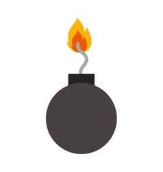 Explosive bomb icon vector
