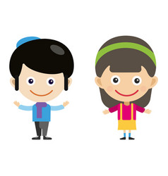 girl portrait fun happy boy young expression cute vector image