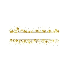 Golden glitter shiny particles background vector