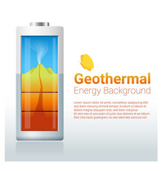 Green energy concept background with geothermal vector