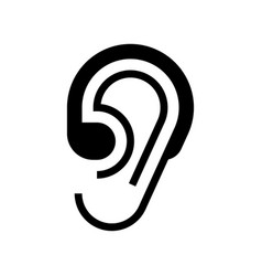 hearing aid icon vector image