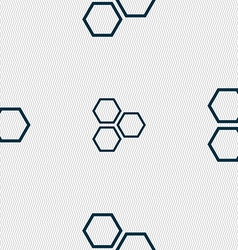Honeycomb icon sign Seamless pattern with vector image