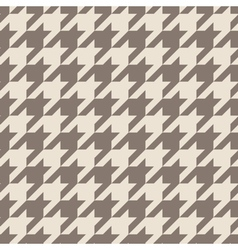 Houndstooth tile brown pattern or background vector