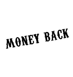Money back rubber stamp vector