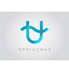 Ophiuchus constellation detailed stylish zodiac vector