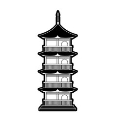 Pagoda building japan related icon image vector