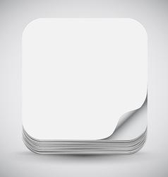 Paper app icon vector