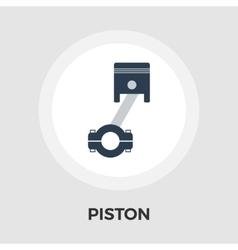 Piston flat icon vector image vector image