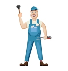 Plumber icon cartoon style vector