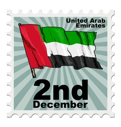 Post stamp of national day of united arab emirates vector