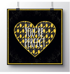 poster for the valentines day with hearts 11 vector image vector image