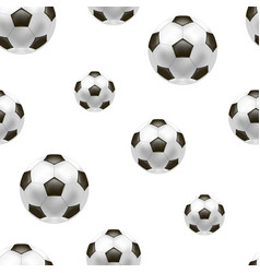 realistic detailed soccer ball background pattern vector image