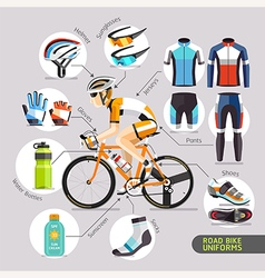 Road bike uniforms vector