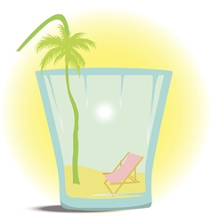 Summer in the glass vector