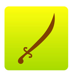 Sword sign brown icon at vector