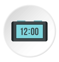 Table electronic watch icon flat style vector