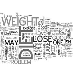 what to do if you cant lose weight change it up vector image vector image