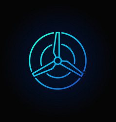 wind energy blue concept icon vector image