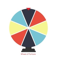 Wheel of fortune lucky icon vector