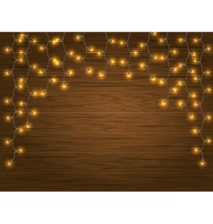 Yellow led light christmas garland vector